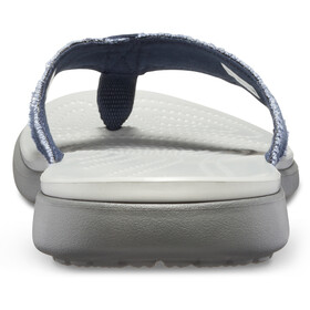 Crocs Santa Cruz Canvas Flip Sandals Herren navy/light grey